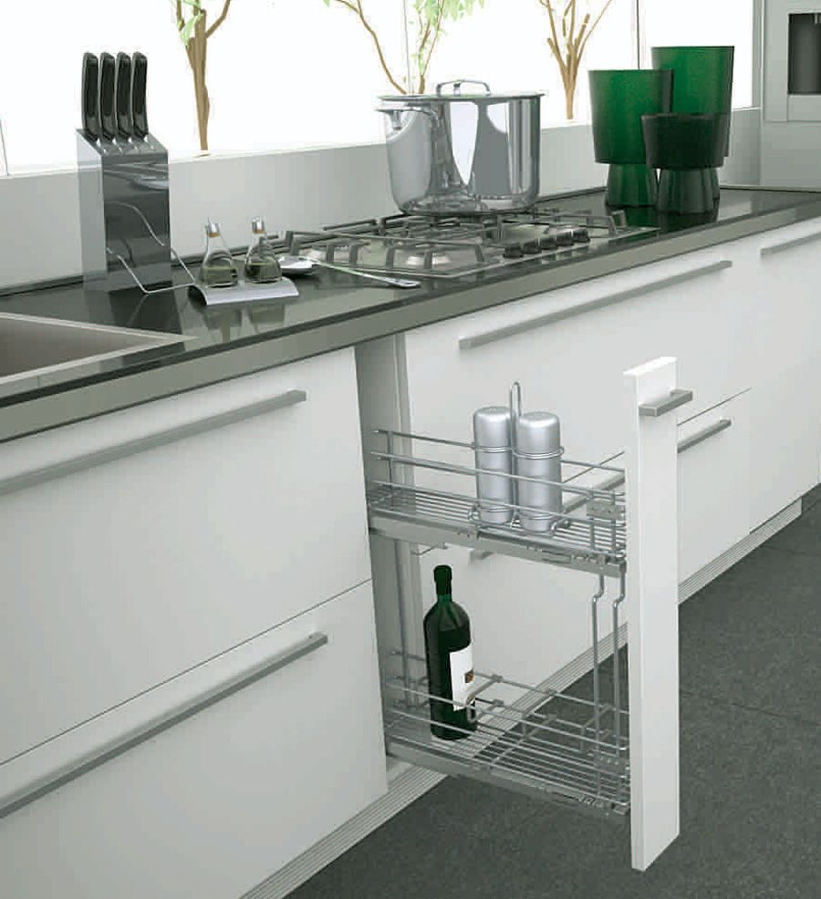 Бутылочница Sigma Soft для нижнего шкафа, полное выдвижение с Soft-Close 110х450х520