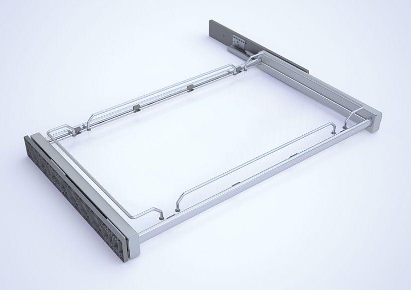 Полка Plano Glass со стеклянным дном, полное выдвижение 1164*500*100