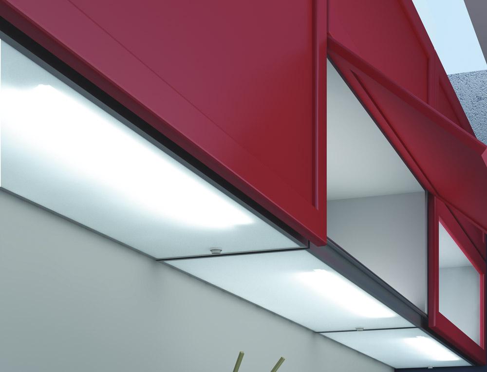 Люминесцентный светильник Pack, 21 Вт, встроенный выкл-ль, кабель 2000мм алю, 1163х325х33,5мм