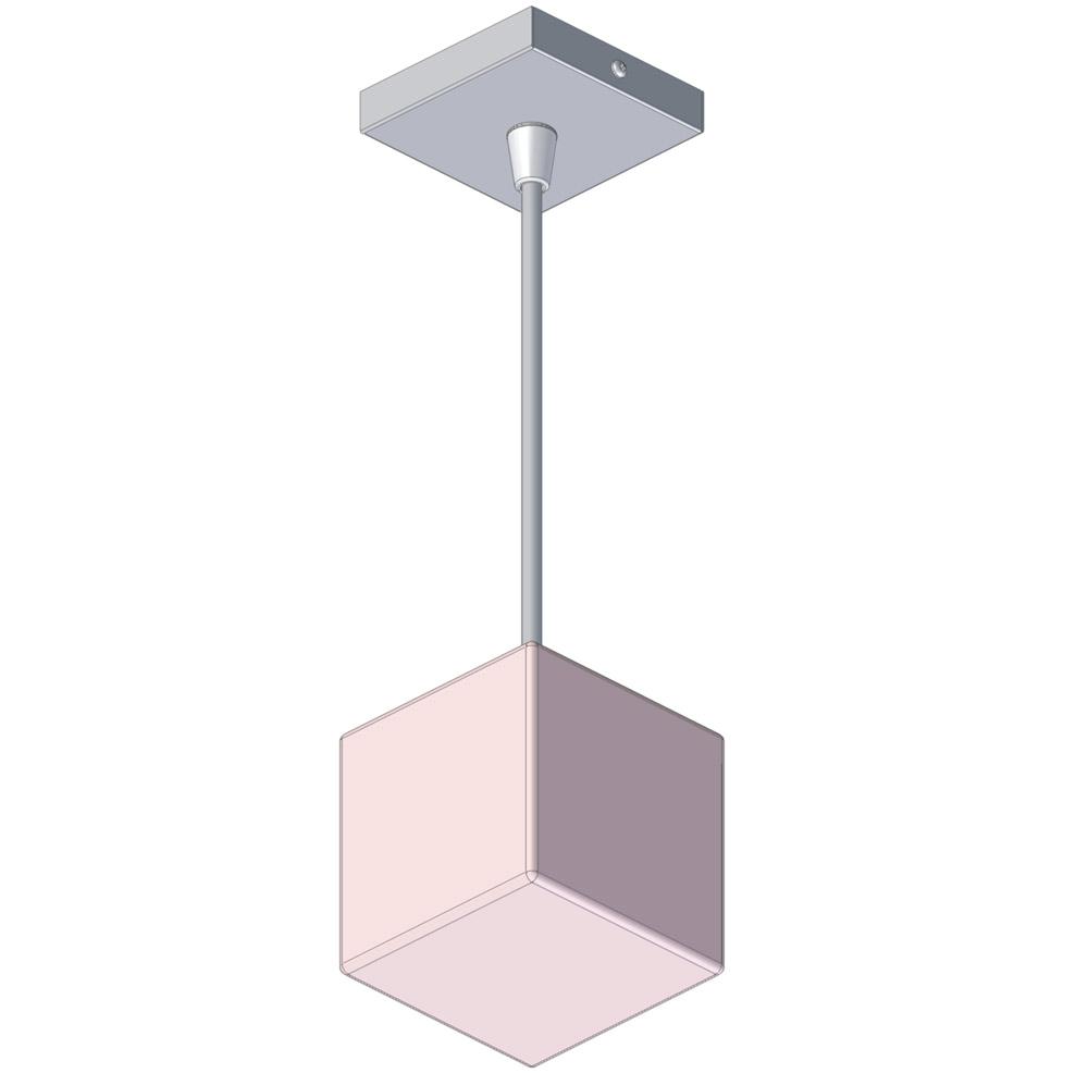 Галогенный светильник One off, 40Вт, 220В кабель 1000мм, стекло Мурано нерж ст,81х81х1096мм