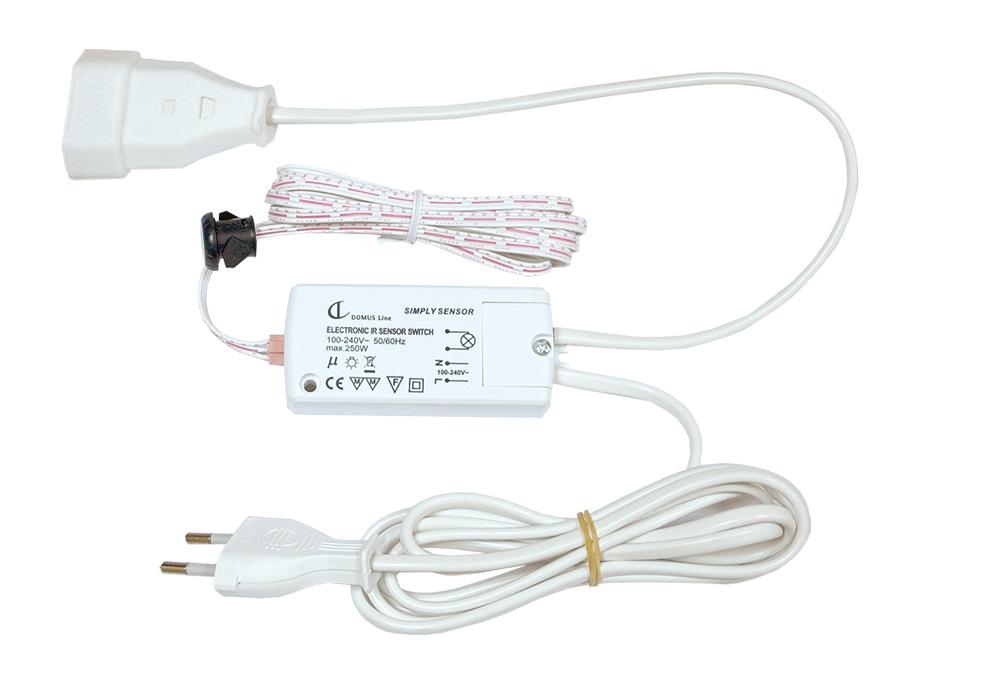Выключатель Simply, датчик движения 10 см (грязные руки) пластик, 78х35,5х18,5мм
