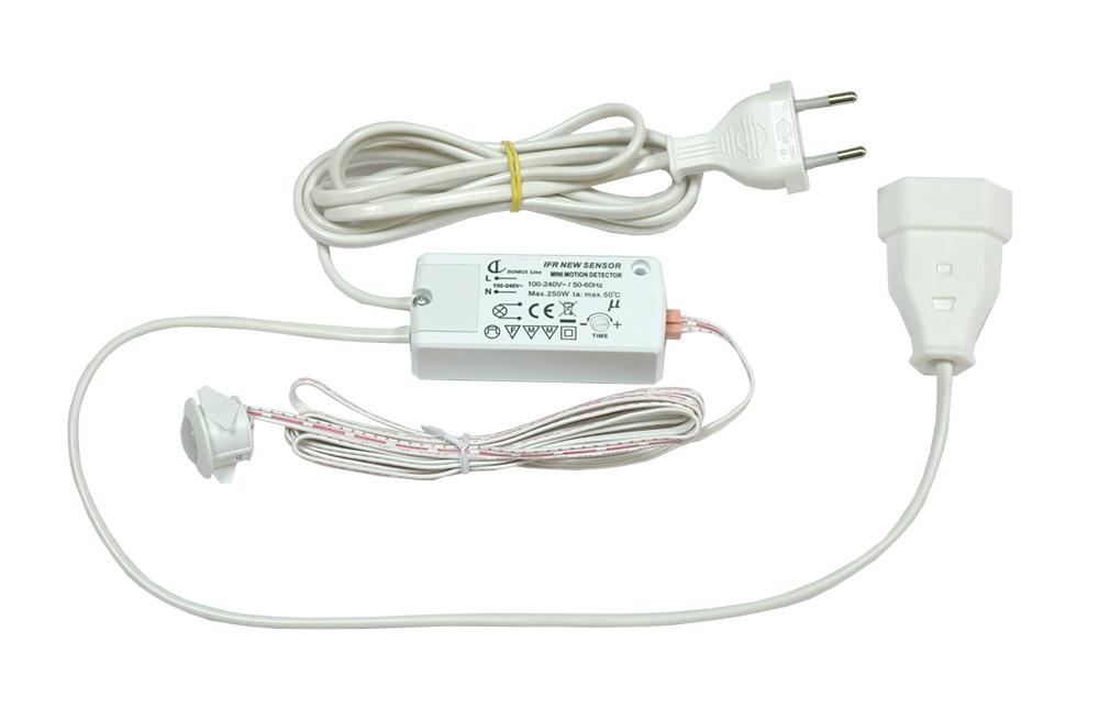 Выключатель IFR V 09, датчик движения врезной, белый пластик, 78х35,5х18,5мм