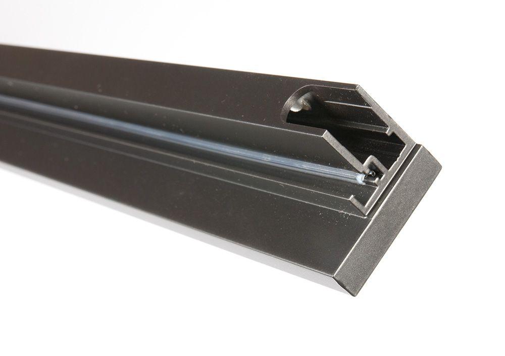 Вертикальный профиль-ручка Glix, L 2400, Т-запил антрацит