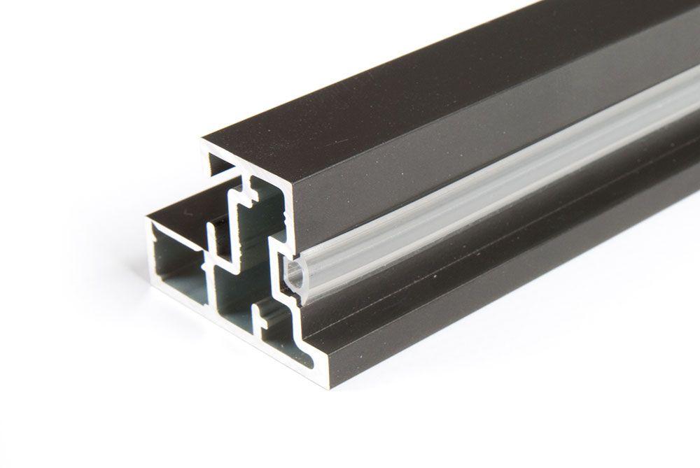 Горизонтальный профиль Lumix c уплотнителем, L 6000 антрацит