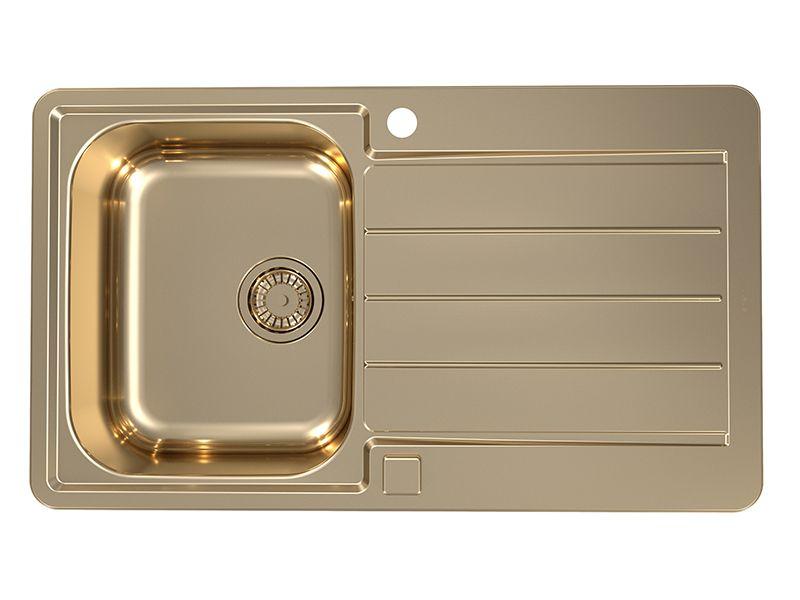 Мойка  Line 20 + сифон 860х500, бронза