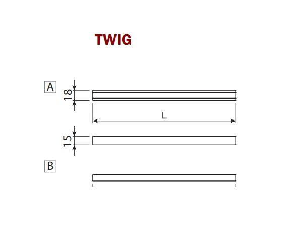 Выключатель TLD V12 для Twig, накладной, регулятор яркости алю, 57х15х18мм