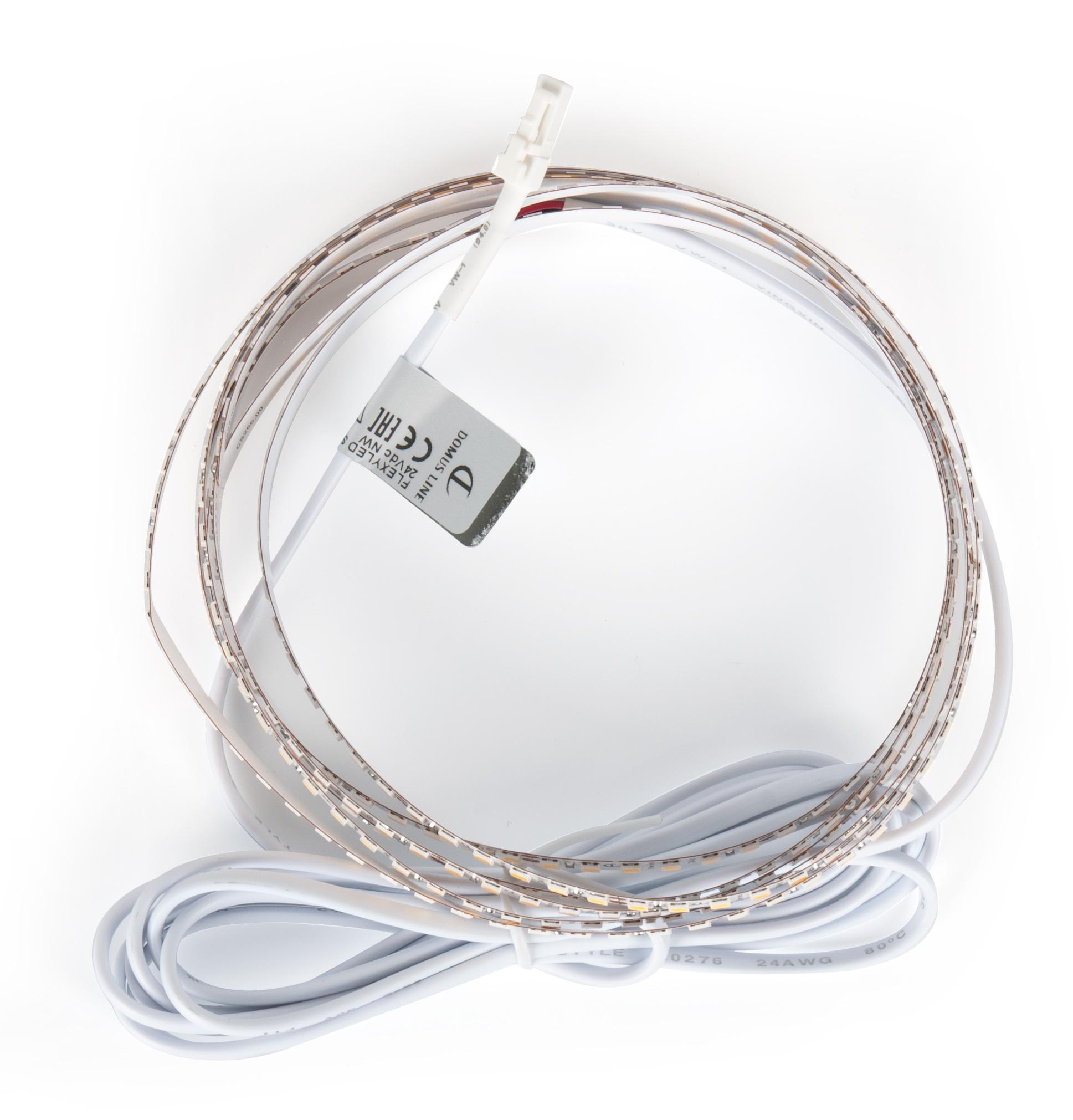 LED лента Flexyled SHE6 2000мм,  180 LED/м, IP20, 28,8Bт, 24B, каб. 2м с раз. Micro, свет натуральный 2000х6х4мм