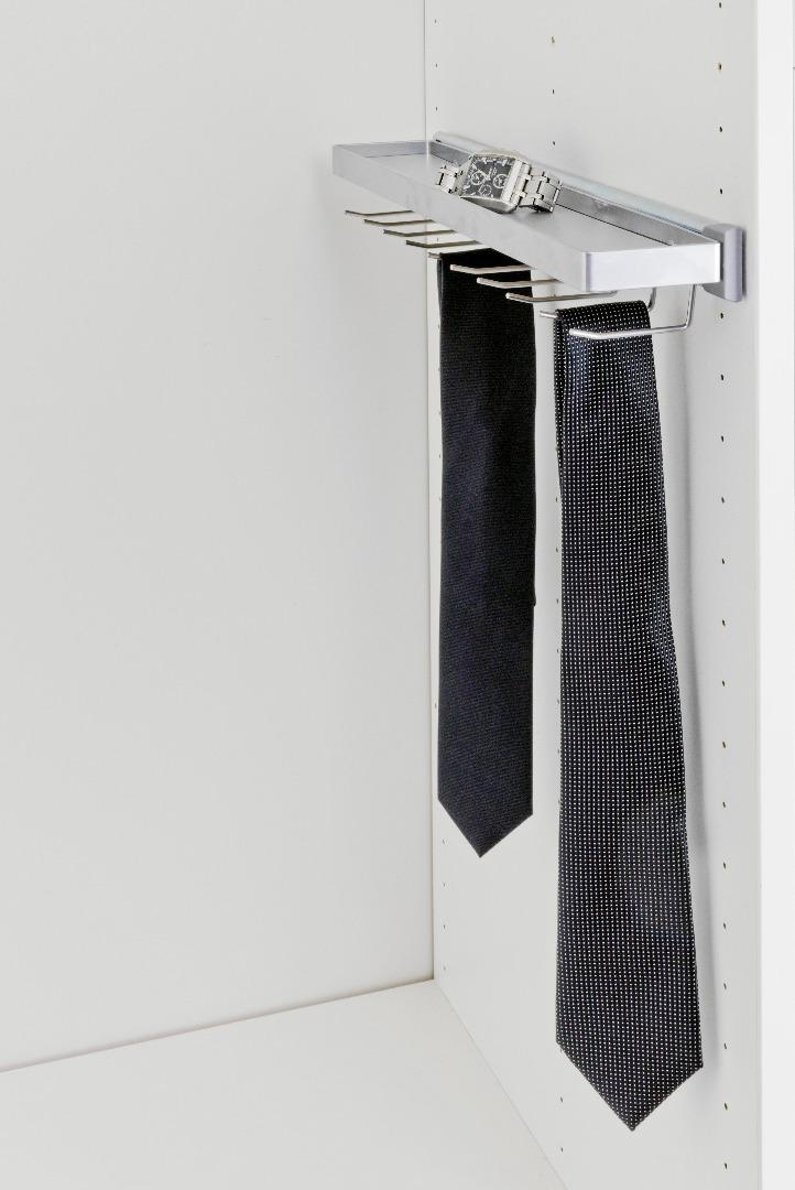 Выкатной держатель для галстуков хром