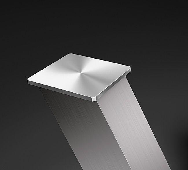 Адаптер для приклеивания стеклянной полки Capri, 65х65х4 мм нерж. сталь