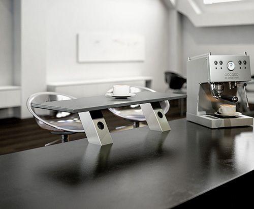 Опора для полки Jumbo inc PS1 наклонная с одной розеткой, высота 170 мм алюминий, цвет нерж. сталь