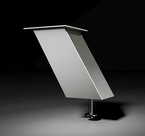 Опора для полки Jumbo inc  наклонная, высота 170 мм алюминий, цвет нерж. сталь