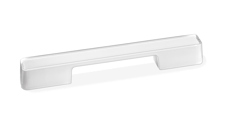 Мебельная ручка Union Knopf Duron белый в прозрачном пластике Durohorn