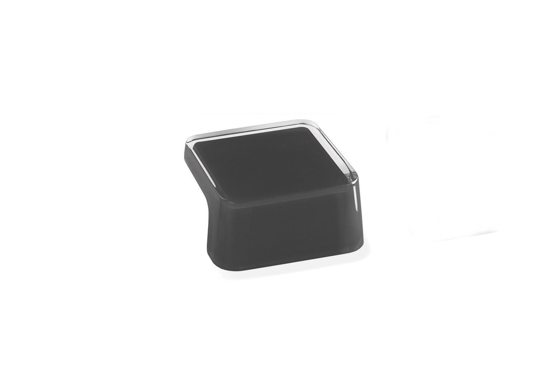 Мебельная ручка Union Knopf Duron черный в прозрачном пластике Durohorn