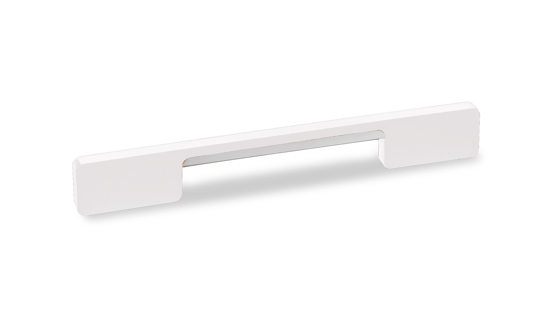 Мебельная ручка Union Knopf Duron белый пластик Duron/хром глянец