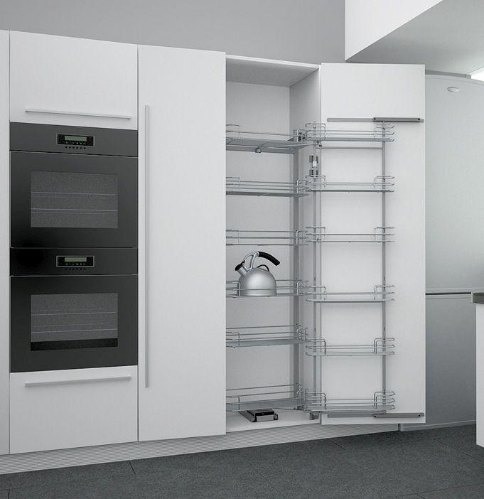 Выдвижная система Duo-12  в высокий шкаф с Soft-close 410*470*1850/2200
