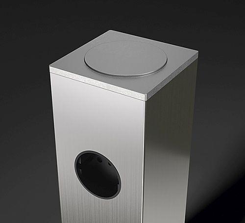 Адаптер для приклеивания стеклянной полки Jumbo (комплект), 80х80х3 мм нерж. сталь