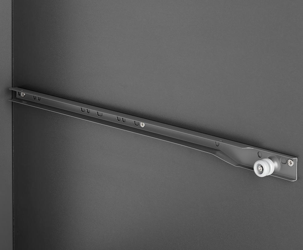 Комплект роликовых направляющих  для ДСП 16мм антрацит
