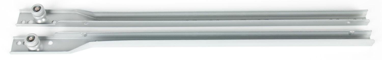Комплект роликовых направляющих  для ДСП 16мм серебристый