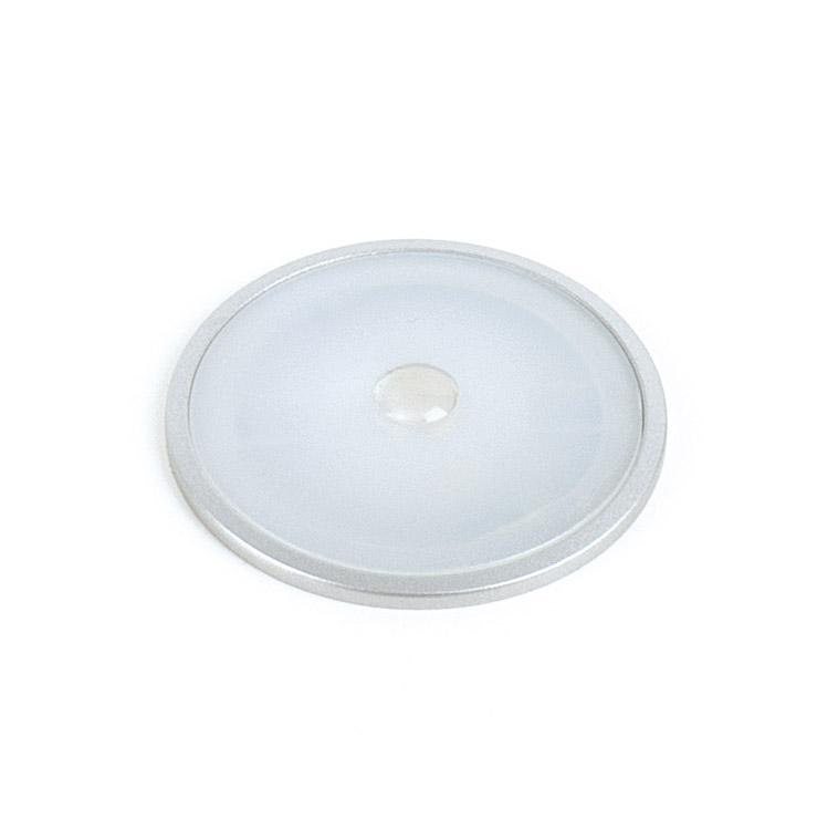 Светильник ILANTA 1,2Вт, 12В, встраиваемый, круглый, кабель 2м серебристый