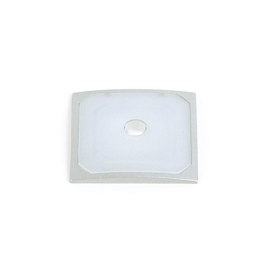 Светильник ADRADO 1,2Вт, 12В, встраиваемый, квадратный, кабель 2м серебристый/свет натуральный