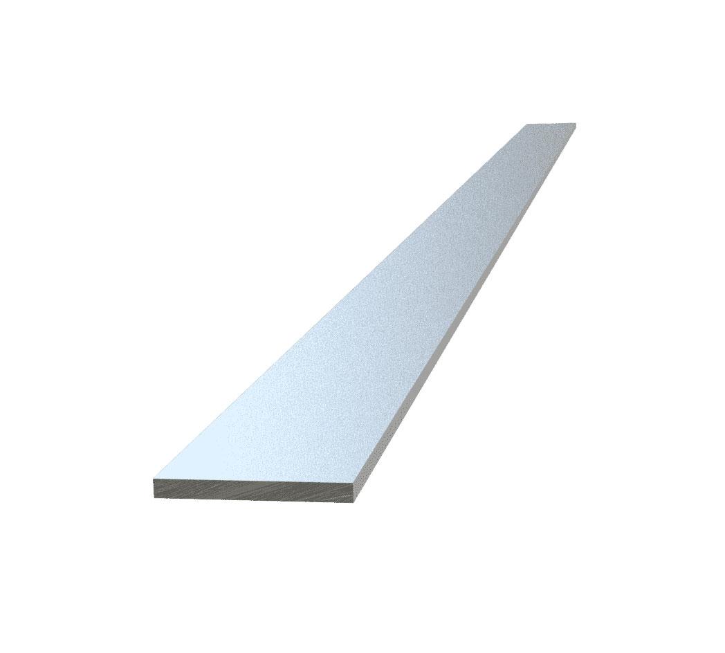 Пластина 10х2 мм для светодиодных лент, 3м для профиля WING