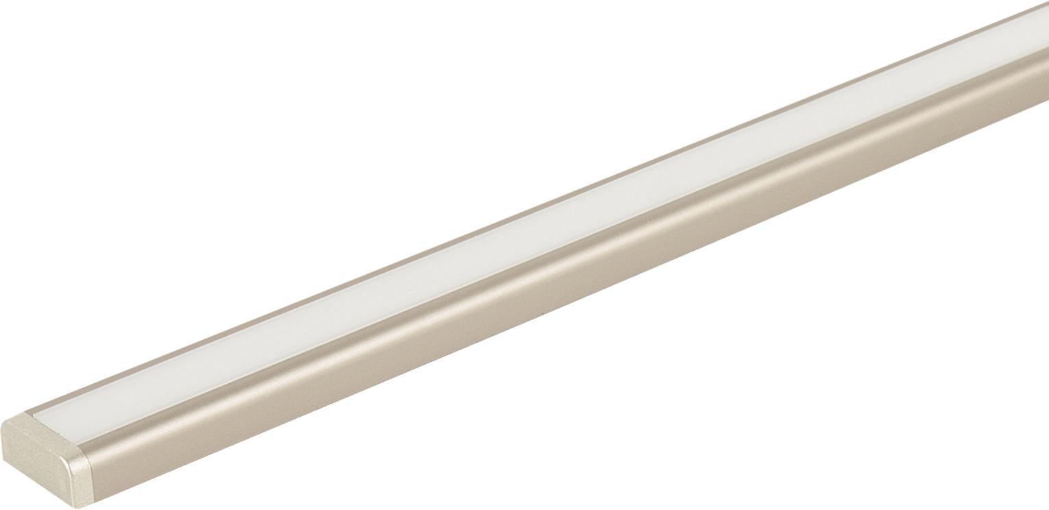 Светильник ALFA DUET-  450 накладной  4,3Вт, 12В, лента 120 LED/м, на конце ленты разъем папа шампань/свет теплый