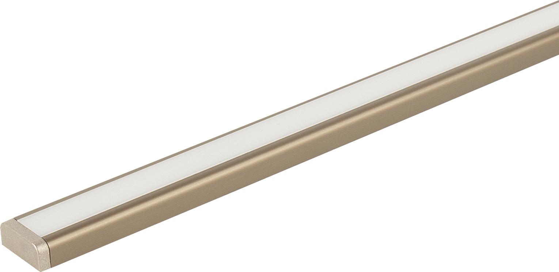Светильник ALFA DUET-  500 накладной  4,3Вт, 12В, лента 120 LED/м, на конце ленты разъем папа бронза/свет натуральный