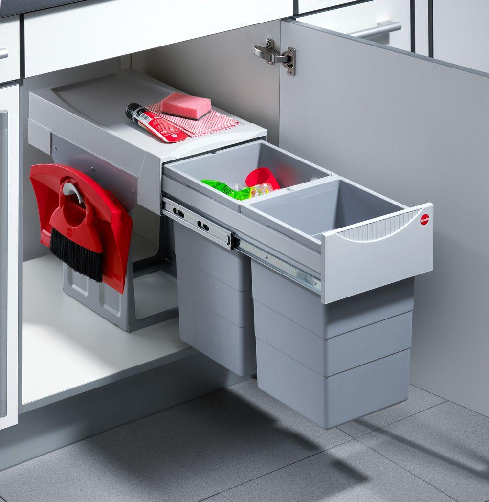 Система выдвижная Tandem 40 см, 2х15л, с компектом для уборки