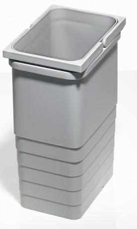 Ведро для мусора, 8 л, с двумя ручками сер. алюминий