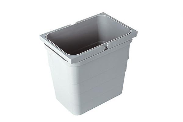 Ведро для мусора, 5,5 л, высота 220мм, с двумя ручками сер. алюминий