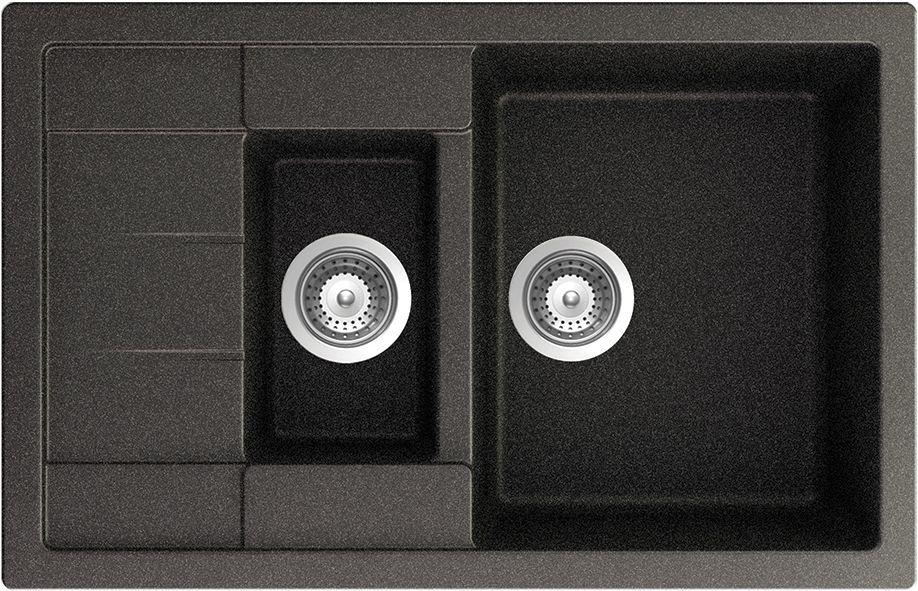 Мойка  Aster 60 D Cristalite 780х500 оникс