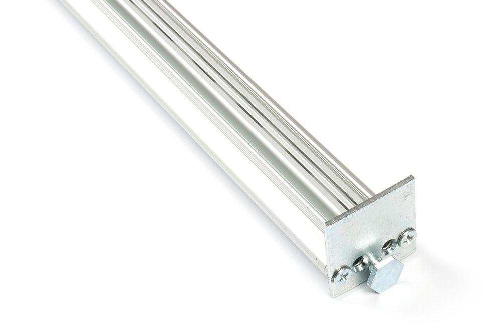 Вертикальный профиль E-Vert с ножкой для регулировки высоты, L 2650 анодированный алюминий