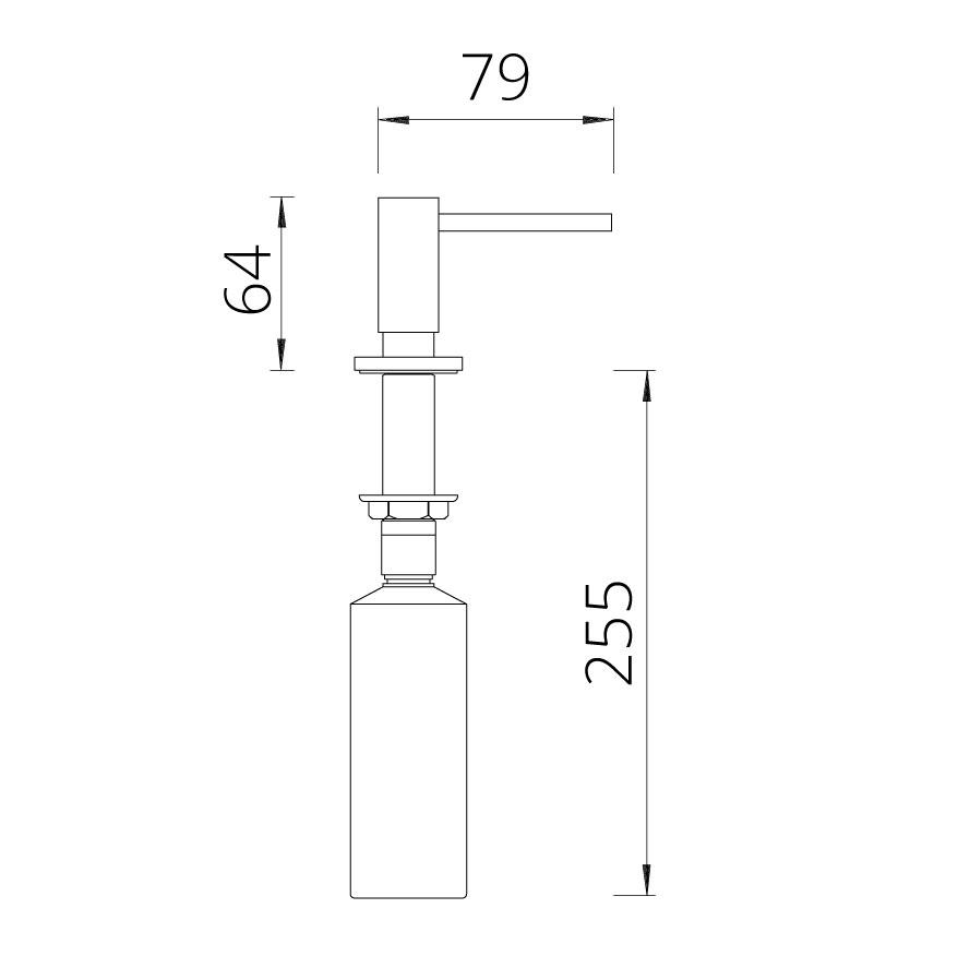 Дозатор мыла (Schock) Samo вороненая сталь