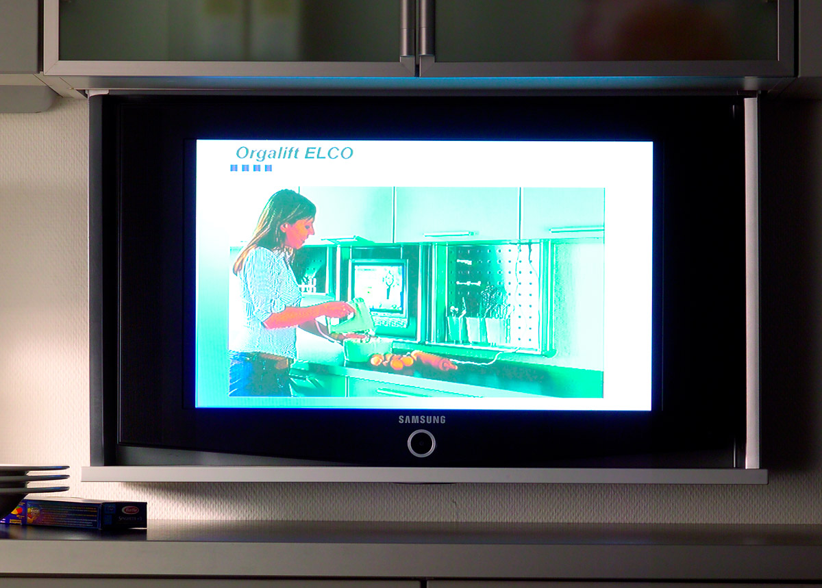 Оргалифт электрический  900/монитор для ДСП 18см