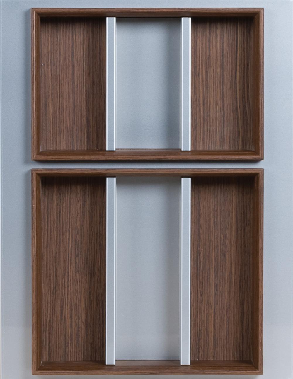 Лоток для столовых приборов Domino  Portaposate 45, B50, ДСП 18мм алюминий+венге