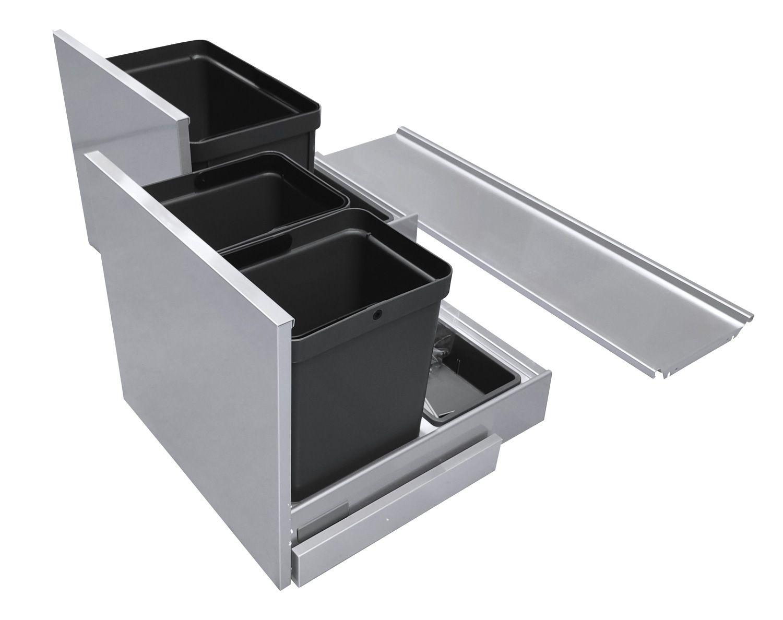 Секция под мойку Base System  90 алюминий