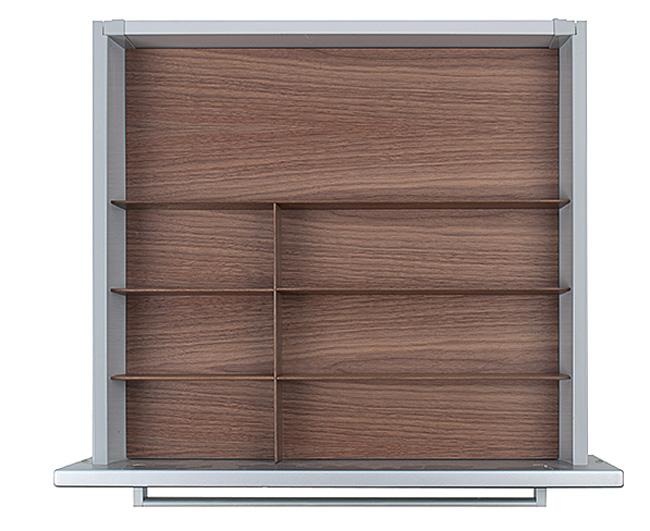 Вставка Fineline 60 B50 для низкого ящика темн. орех, h 5,5см