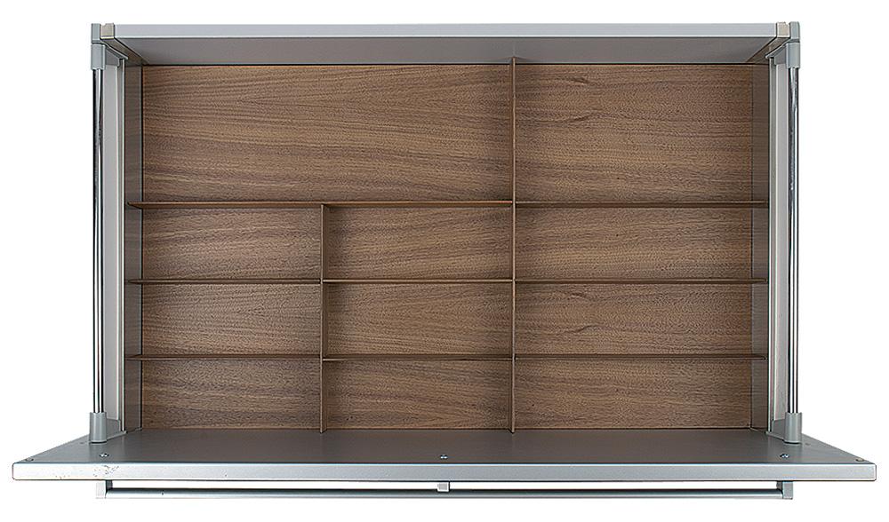 Вставка Fineline 90 B50 для низкого ящика темн. орех, h 5,5см