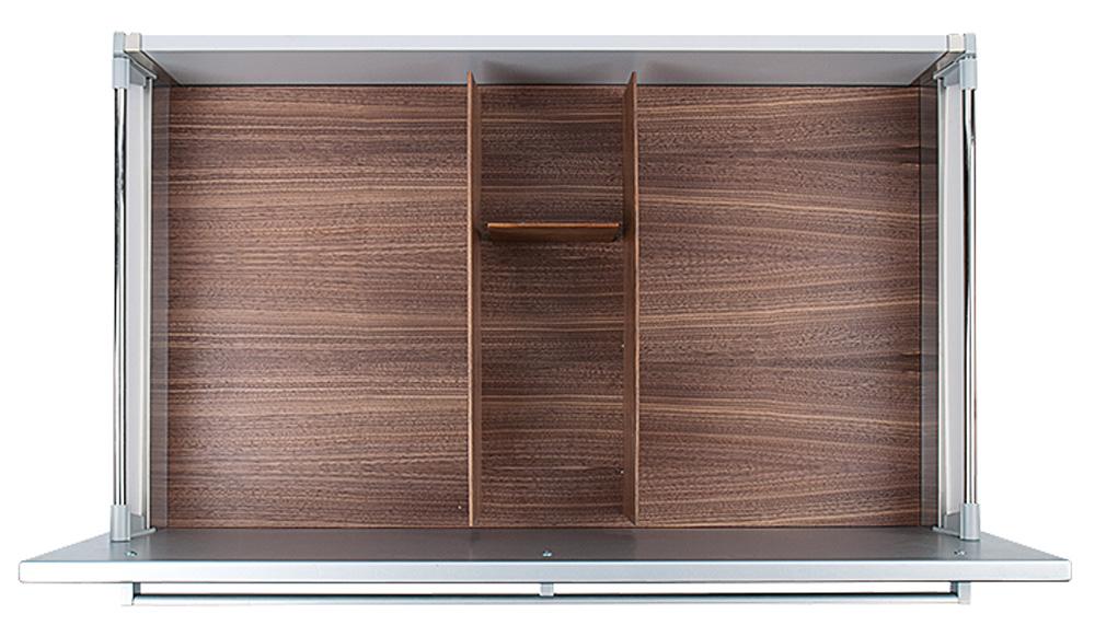 Вставка Fineline 90 B50 для высокого ящика темн. орех, h 14см