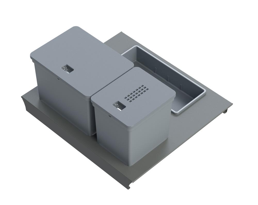 Система Kit da cassetto mini  60, B45 Legrabox  c/vaschetta,  1х6л, 1х10л, 1 лоток