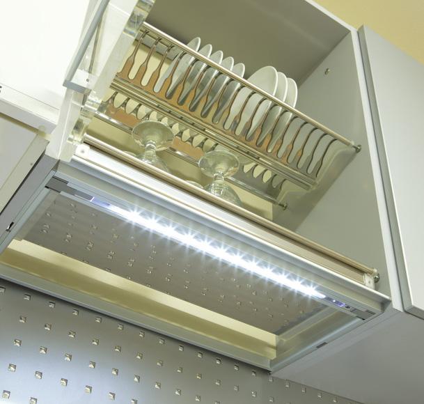 Рама со светодиодной подсветкой в шкаф 80см (ДСП 18мм) 280-330мм