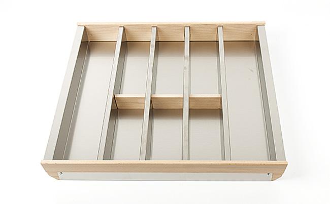 Лоток для столовых приборов Cassetto Portaposate 60, B50 Legrabox нерж.сталь+бук