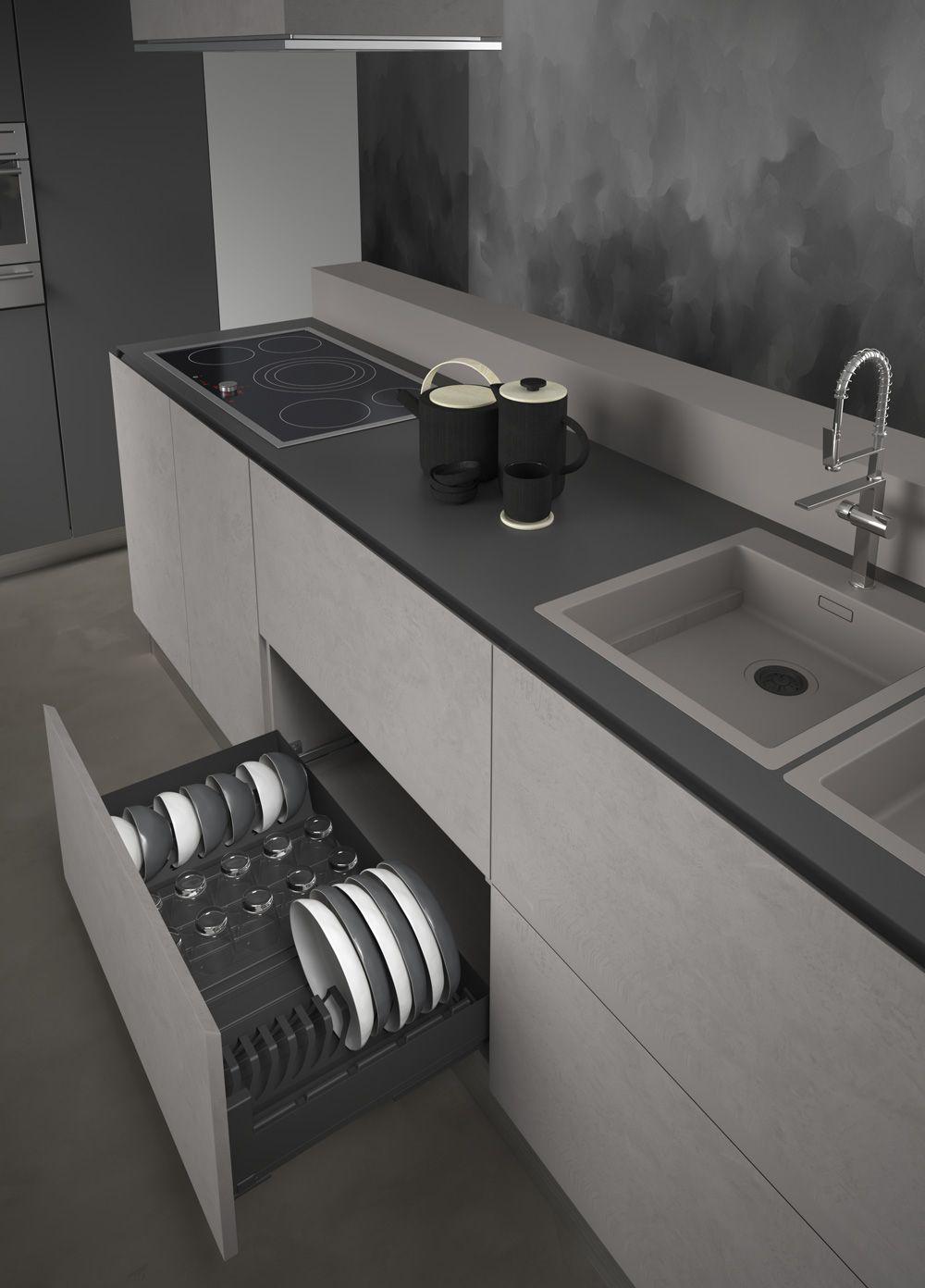 Сушка выдвижная для посуды Scola Pro, с Soft-Close для шкафа шириной 900 мм 864х500х110, grey orion