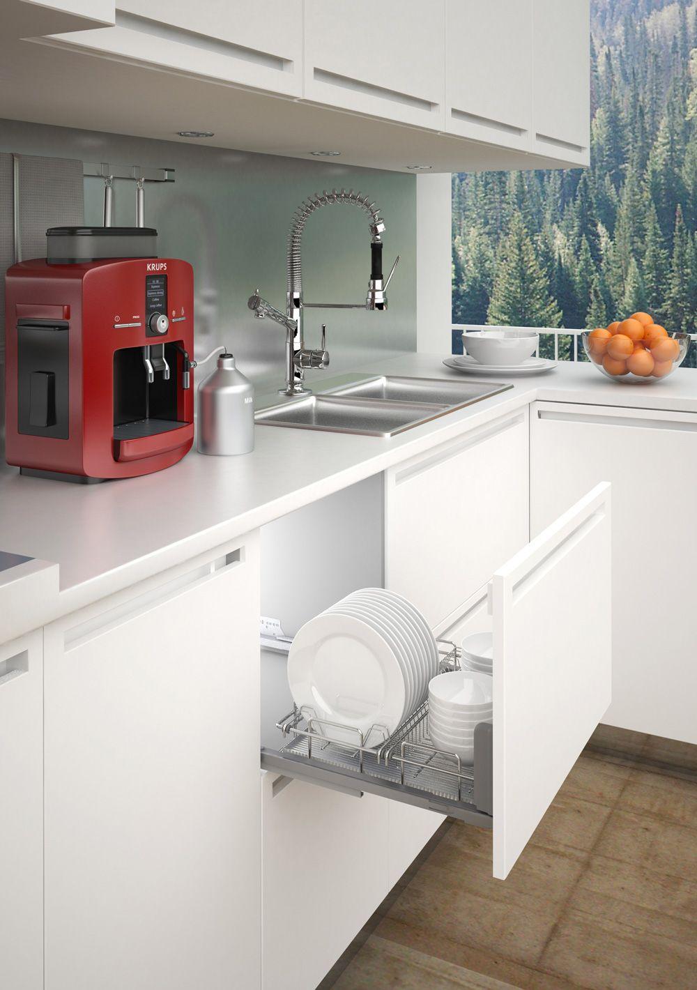 Выдвижная сушка для посуды Scola, с Soft-Close для шкафа шириной 450 мм 414*500*110