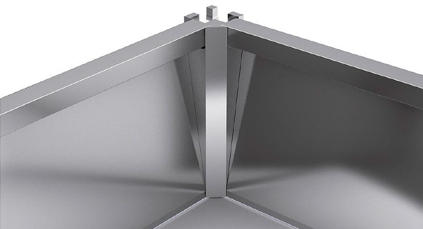 Внутренний угол для цоколя ZLEDH150 под LED подсветку, h150 алюминий