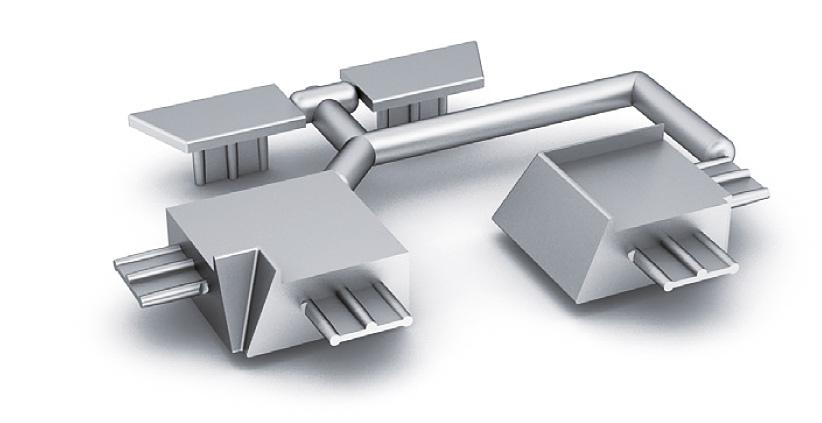 Комплект заглушек и уголков для ALZATINA SI5811 серебристый пластик