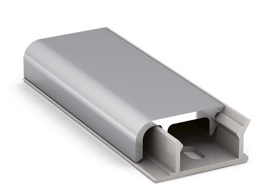 Профиль алюминиевый ALZATINA D620 , 4200мм глянцевый алюминий