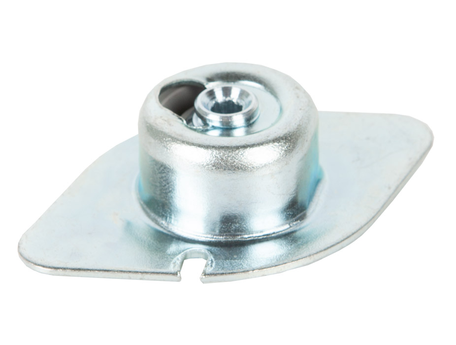 Ножка для мебели LV301 с возможностью регулировки высоты h=3,5 оцинкованная сталь, пластик