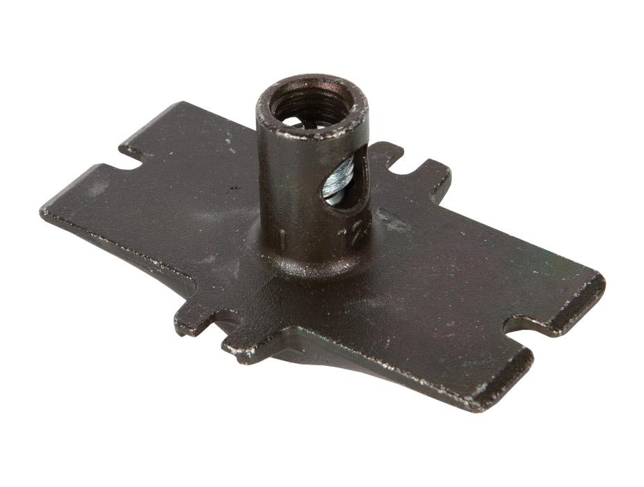 Ножка для мебели LV342 с возможностью регулировки высоты h=10 D14х25 оцинкованная сталь