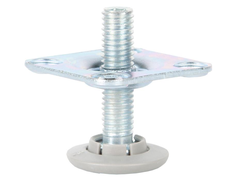 Ножка для мебели LV901 с возможностью регулировки высоты h=37,5  сталь, пластик